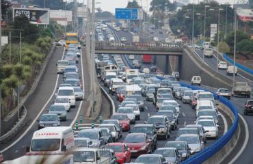Retenciones de tráfico en Autopista Norte TF-5
