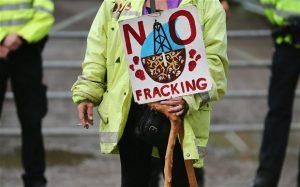 Manifestaciones contra el fracking