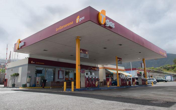 Gasolinera Tgas La Gorvorana, en Los Ralejos (Tenerife)