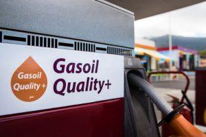 Cartel Gasoil Quality+ en Tgas La Gorvorana