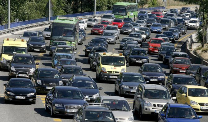 Congestión o atascro de tráfico