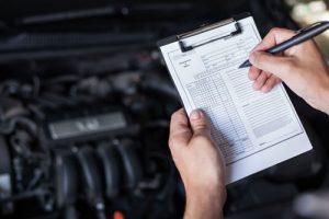 Puntos de control en revisión del coche