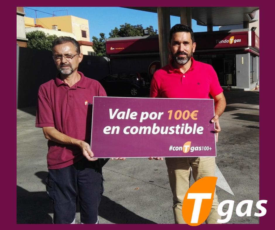 Francisco Javier Diaz ganador #conTgas100+ estación Tgas Montesdeoca