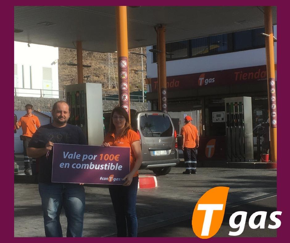 ganador #conTgas100+ estación Tgas Las Caletillas