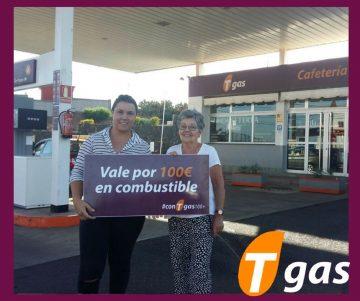 Omayra Díaz, ganadora #conTgas100+ en Tgas Los Baldíos